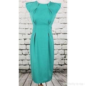 BLACK HALO Sheath Dress Green Body Con Size 2